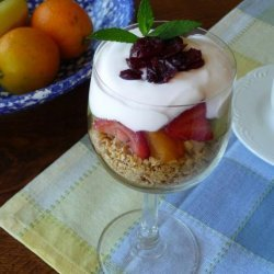 Breakfast Yogurt Parfait With Fresh Fruit and Granola recipe