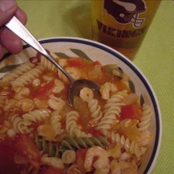 Barbecue Shrimp and Pasta recipe