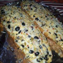 Garlic Cheese Olive Bread recipe