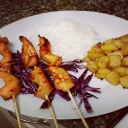 Chicken Satay W/ Pineapple recipe