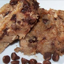Chocolate Chip and Coconut Bread Pudding recipe
