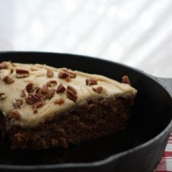 Skillet Apple Cake With Caramel Frosting recipe