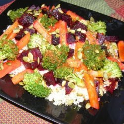 Superfood Salad With Moroccan Dressing recipe