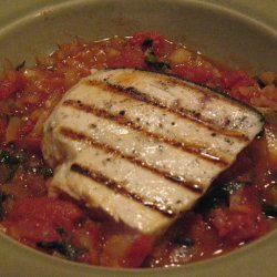 Swordfish With Tomatoes and Capers recipe