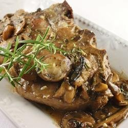 Veal Chop with Portabello Mushrooms recipe