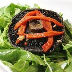 Roasted Portobello, Red Pepper, and Arugula Salad for One recipe