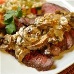 Flat Iron Steak with Mushroom Sauce recipe