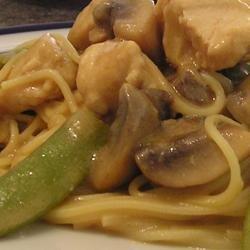 Peanut Sesame Chicken with Mushrooms recipe