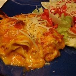 Chicken and Pumpkin Lasagna recipe
