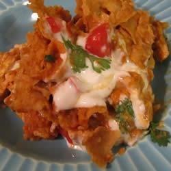 Chicken Chilaquiles Casserole recipe