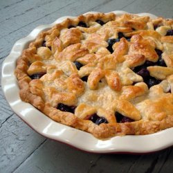 Blueberry Pie With Sweet Almond Crust recipe