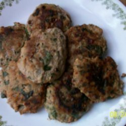 Spinach and Meat Cakes recipe