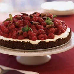 Chocolate Raspberry Tart With White Chocolate Cream recipe