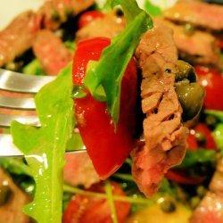 Grilled Steak Salad With Caper Vinaigrette recipe