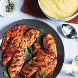 Grilled Tilapia With Smoked Paprika and Parmesan Polenta recipe