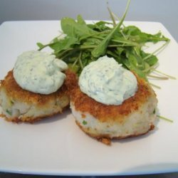 Golden Crusted Fish and Potato Cakes With Dill Yoghurt recipe