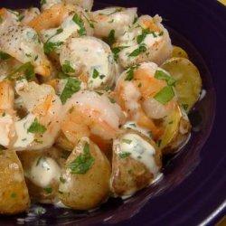 Warm Roast Potato and Shrimp Salad recipe