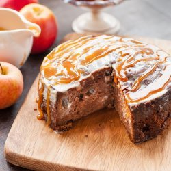 Apple Cake With Buttermilk Sauce recipe