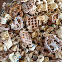 *Tink's White Chocolate, Honey-Nut, Birthday Party Chex Mix recipe