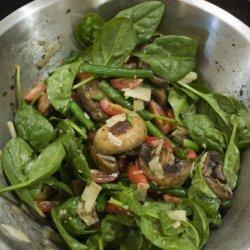 Barbecue /Bbq Mushroom and Green Bean Salad recipe