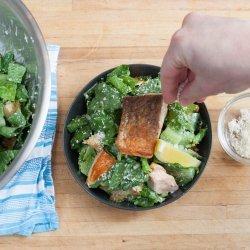 Salmon Caesar Salad recipe