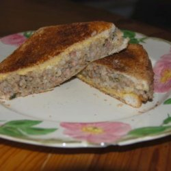Boudin Grilled Cheese Sandwich recipe
