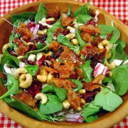 Spinach Salad With Bacon and Cashews recipe