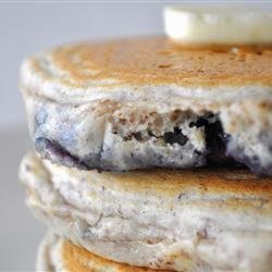 Blueberry Flax Pancakes recipe