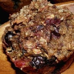 Whole Wheat Blueberry Beet Muffins recipe