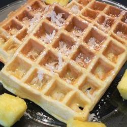 Hawaiian Waffles with Pineapple and Coconut recipe