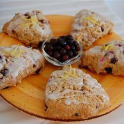 Huckleberry-Lemon Scones recipe