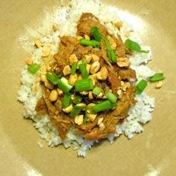 Slow Cooker Thai Pork with Rice recipe