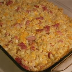 Cheesy Ham Potato Bake recipe