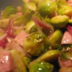 Ham and Brussels Sprout Bake recipe