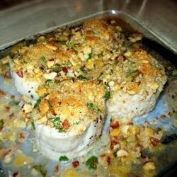 Pecan Baked Scallops recipe