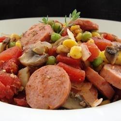 Spicy Sausage Casserole recipe