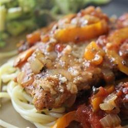 Veal Scallopini in a Sweet Red Pepper Sauce recipe