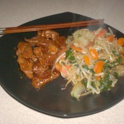 Thai Glazed Pork and Stir-Fry (Low Carb) recipe