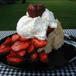 Strawberry Topped Angel Food Cake recipe