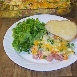 Ham and Vegetable Casserole recipe