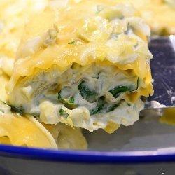 Spinach Lasagna Rolls recipe
