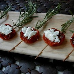 Oven Roasted Tomatoes With Goat Cheese recipe