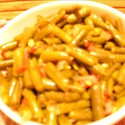 Green Beans With Diced Ham, Onions & Red Pimentos recipe