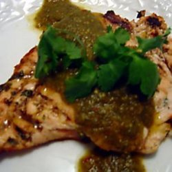 Grilled Chicken With Chile Verde Sauce recipe