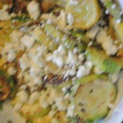 Sauteed Zucchini With Oregano and Feta recipe