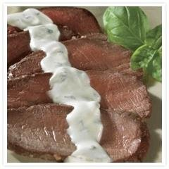 Grilled Steak With Creamy Herbed Goat Cheese Sauce recipe