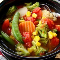 Quick & Easy Steamer Bag Vegetable Soup recipe