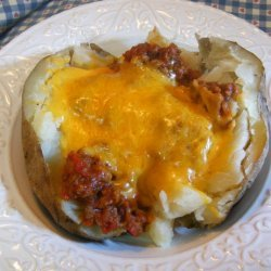 Baked Potatoes With Meat Sauce recipe