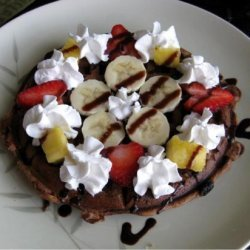 Banana Split Waffles (Vegan) recipe