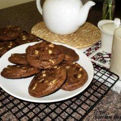 Triple Chocolate Chunk Cookies recipe
